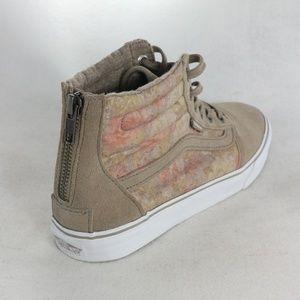 RARE VANS SK8-Hi Slim Zip Up Floral Sneakers